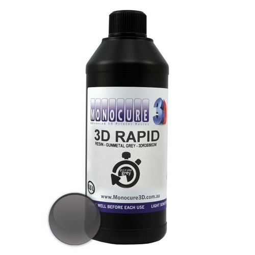 Živica/Resin Monocure 3D Rapid gunmetal sivá - 500 ml