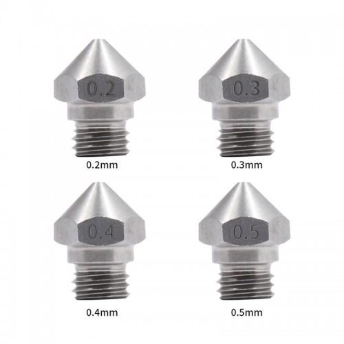 MK10 nerezová oceľová extrudérová tryska 3 mm