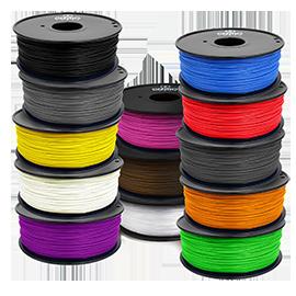 ABS, PLA, HIPS, FLEX filamenty